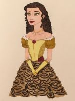 Emma Watson as Belle by madiquin185