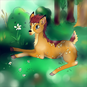 Request: Deer in Bambi style by McFearless1810