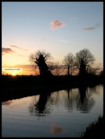 Irish Canal Sunset IV by fluffyvolkswagen