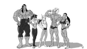 Muscle party by k3m35