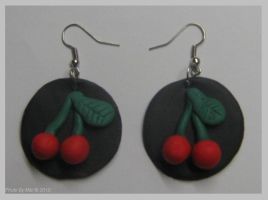 Cherry earrings by dreamylicious