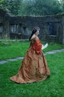 Mary Tudor gown back by Abigial709b
