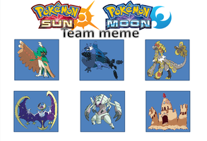 Pokemon sun and moon team meme