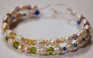 Pearl and Gem Bracelet by saourealis