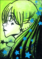 ATC 012 - Alien Elf Girl by tea-bug