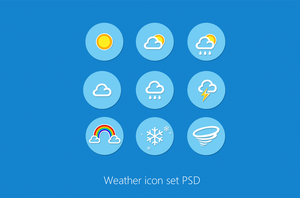 Weather Icon Set PSD by cssauthor