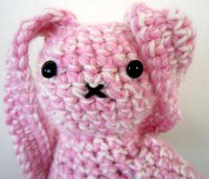 Crocheted Bunny's Head by Amyberry