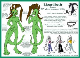 Character Sheet - Lizardbeth by lizardbeth
