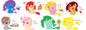 Pony Adopts ((OPEN)) ONLY 3 AVAILABLE by Ice-Chi