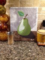 Pear Painting by WhitexFox2414