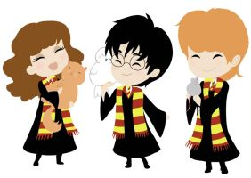 Harry and friends by CicatriceMiki