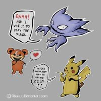 Pokemon being silly by Abakuu