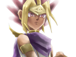 Pharaoh on hourseback by Inakunaru-Yagi