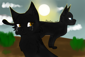 Crowfeather and Nightcloud by Stormfire--cat