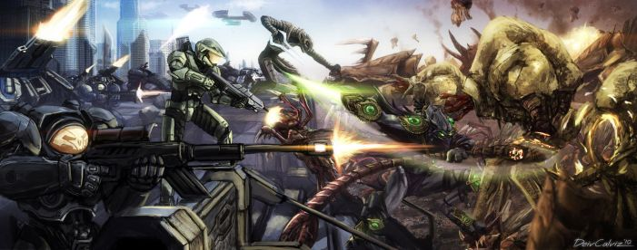 Starcraft x Halo by DeivCalviz