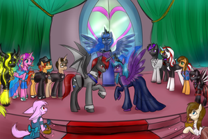 Alicorn Wedding by JitterbugJive