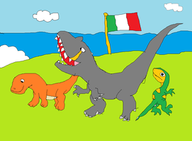 Dinosaurs from Italy by koopalings98