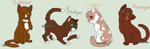 My Warrior cat apprentices-part 4 by TwilightLuv10