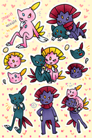 Sneaselweavile Stickers by kuroeko