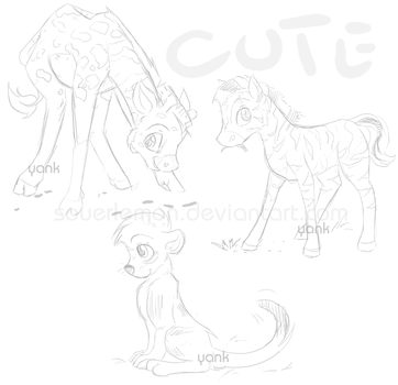 Baby Animals WIP by souerlemon