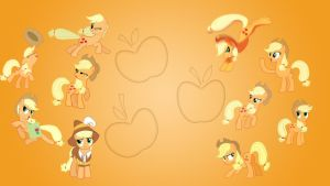 Applejack Wallpaper Collab by EqFAzrael