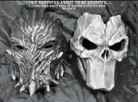 Darksiders Death's Mask + War Mask of Shadows by Uratz-Studios