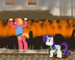 NATG Day 17 - A House on Fire by phallen1