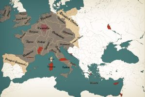 Holy Empire of Greater Europe 1120 by zalezsky
