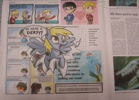 Derpy Breaks into the Newsletter by JHUCartoons