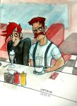 Nerds at a Diner  by meekon-star98