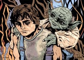 Luke and Yoda by soliton