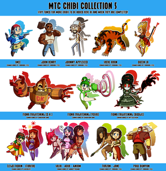Commission: MTC Chibi Collection 5 by DrCrafty