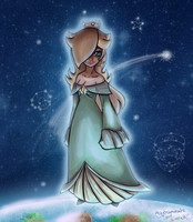 Floating Rosalina  - collab by maybesomecake