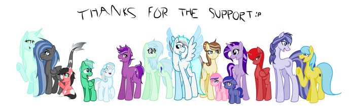 All my characters! (Minus Swift and PT ponies) by IzzyandLizzysArt