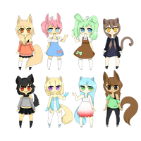 Kemonomimi Set 1 (?) by sockjuice