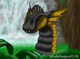 Bronze Dragon -colored- by WindieDragon