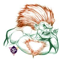 Street Fighter II Blanka Sketch! by renomsad