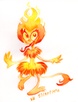 Monster a Day Challenge - Fire Imp by TopperHay