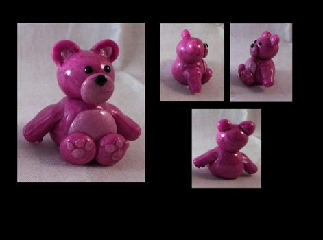 Little Pink Teddy by AuroraStars