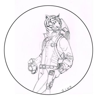 Jetpack Tiger by ginocollins