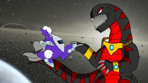 ART TRADE - Asylus vs. Naoki Knight by KingAsylus91