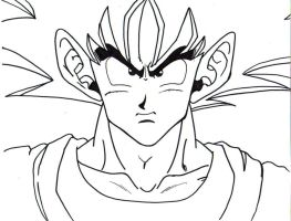 goku face lineart by trunks24