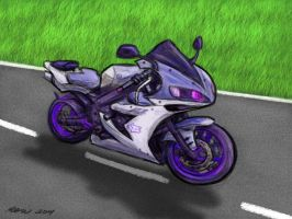 Mike's Purple Bike by ArtmasterRich