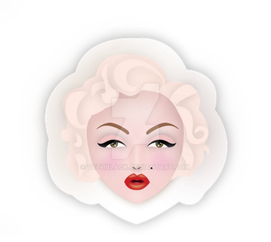Marilyn Monroe Sticker by VethBlack