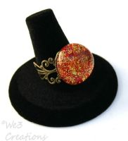 Red and Gold Ring by kelleejm1