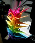 Post-It Cranes by vandonovan