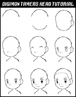 Digimon Tamers -  Head Tutorial by Deco-kun