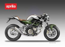 APRILIA 750 CAFE' RACER PROJECT by obiboi