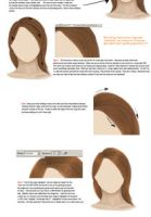How to draw hair... by Tigirl