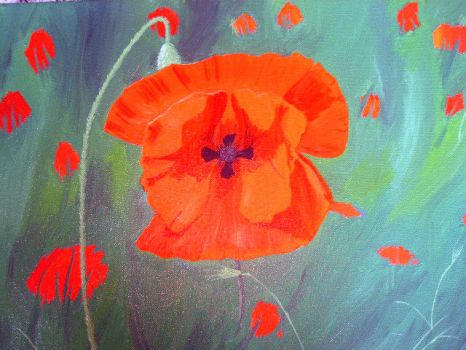 Poppy Painting by LovelyLotus